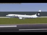 FlightGear! Boeing-737 landing!